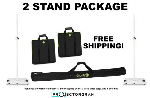 WHITE - 2 Stands & Bags Package