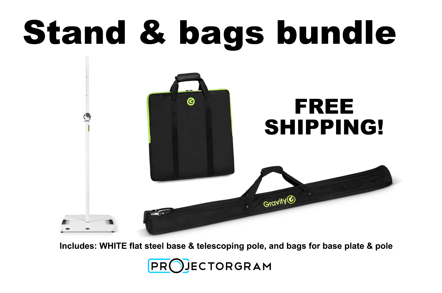 WHITE - Stand & bags bundle